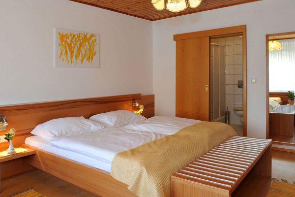 Zimmer mit Badblick